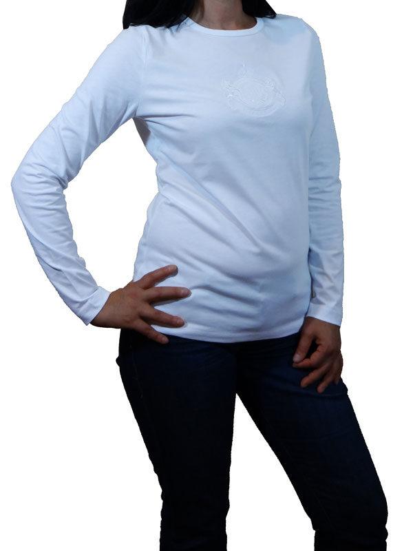 Bluza alba cu maneca lunga pentru femei, Lauren Ralph Lauren