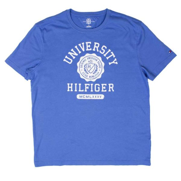 Tricou barbatesc Tommy Hilfiger summit blue