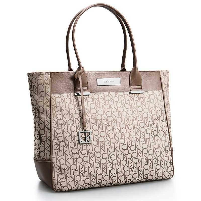 Geanta dama Calvin Klein Logo Jacquard Large Shopper Tote