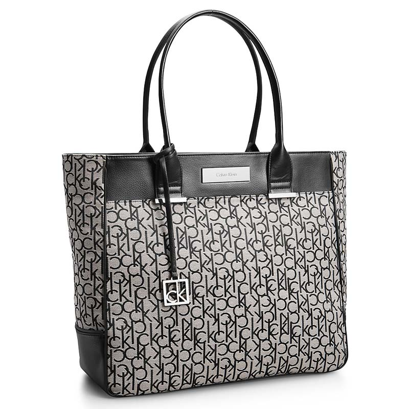 Geanta Calvin Klein Logo Jacquard Large Shopper Tote