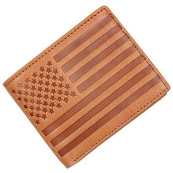 Portofel Levi's din piele maro steagul american