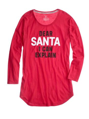 Camasa de noapte Victoria Secret Angel Dear Santa