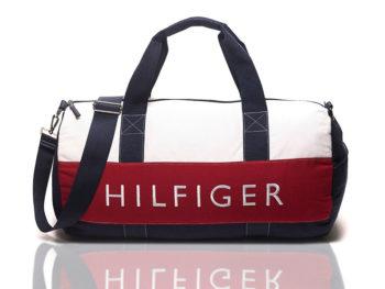Geanta mare sport Tommy Hilfiger - alb/rosu/bleumarin