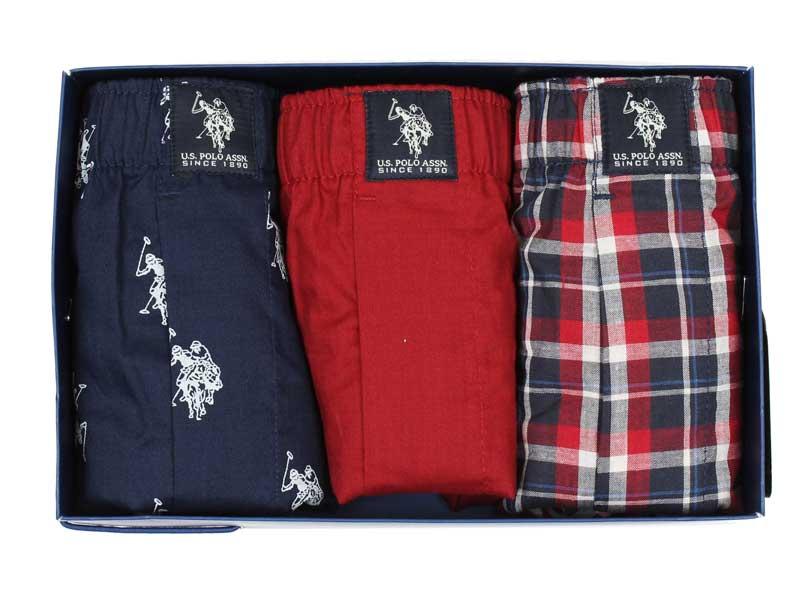 Set 3 perechi boxeri US Polo ASSN in cutie cadou