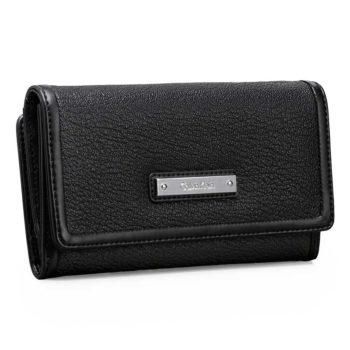 Portofel dama Calvin Klein Valerie Mega Flap Wallet negru