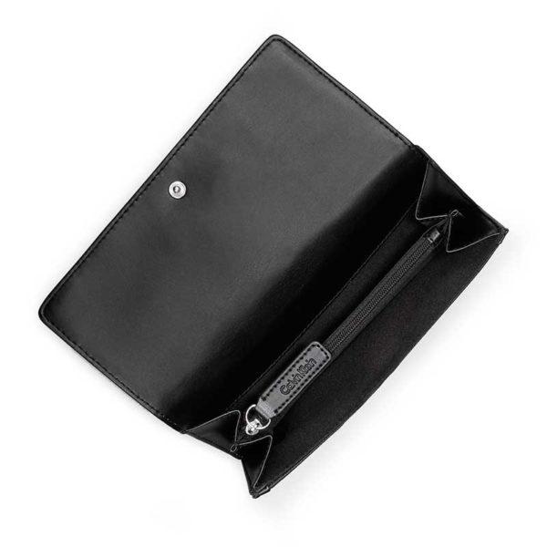 Portofel dama Calvin Klein Valerie Mega Flap Wallet negru - interior