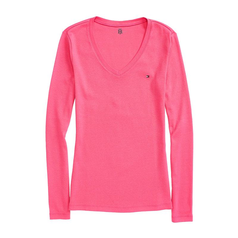 Tricou dama cu anchior Tommy Hilfiger roz