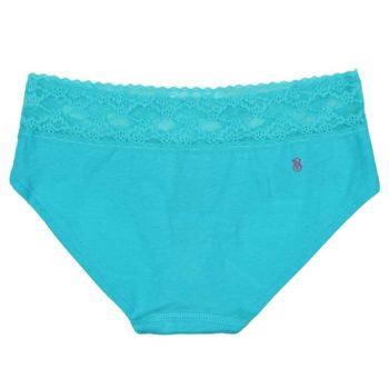 Chiloti dantela Victoria's Secret Lace Waist Hiphugger Panty Seafoam - back