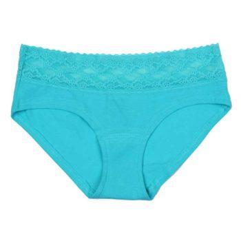 Chiloti dantela Victoria's Secret Lace Waist Hiphugger Panty Seafoam