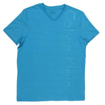 Tricou Calvin Klein logo Santo Blue lifestyle