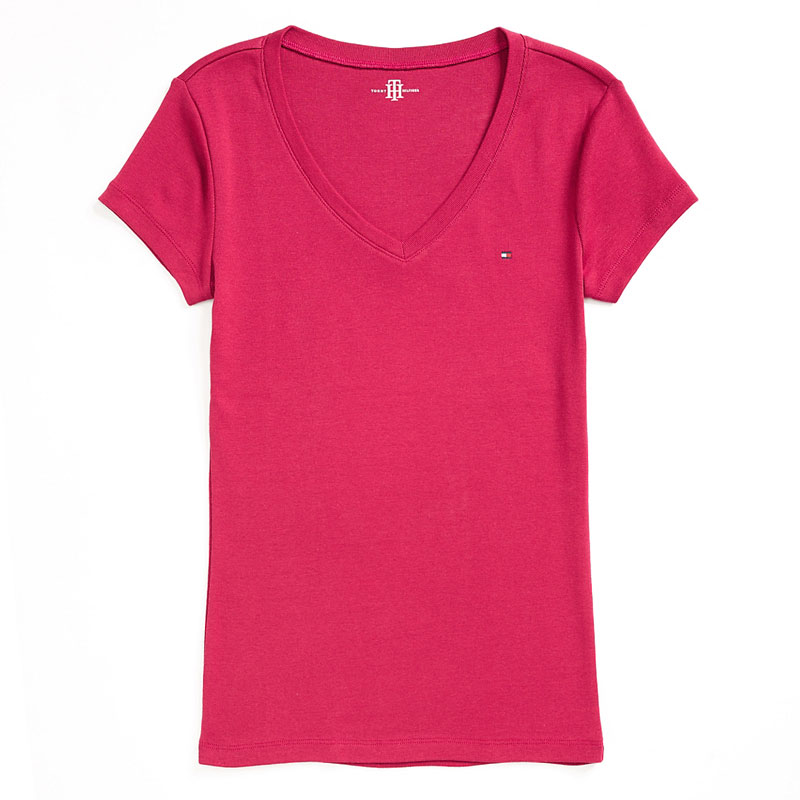 Tricou dama Tommy Hilfiger roz inchis - import SUA