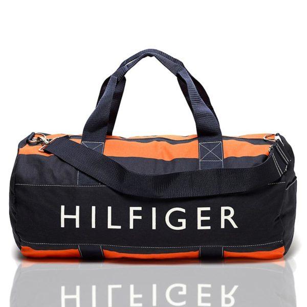 Geanta mare sport Tommy Hilfiger - navy orange