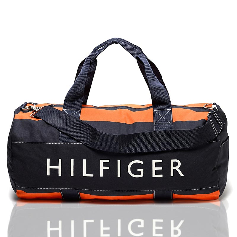 Geanta mare sport Tommy Hilfiger - navy orange