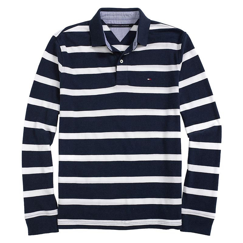 Tricou polo Tommy Hilfiger navy white