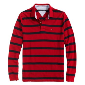 Tricou polo Tommy Hilfiger red navy