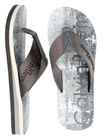 Papuci plaja Calvin Klein gri