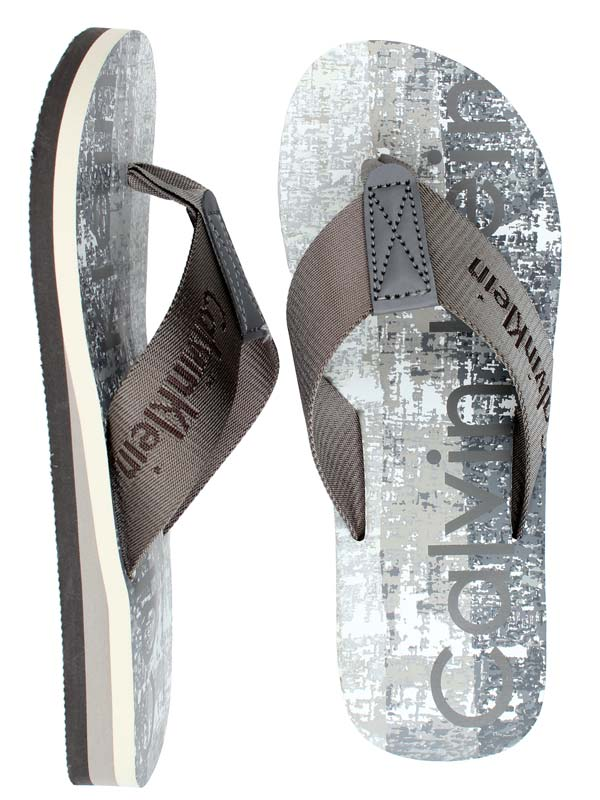 reducere mare neînvins x prima rata Papuci plaja Calvin Klein, papuci barbati Calvin Klein