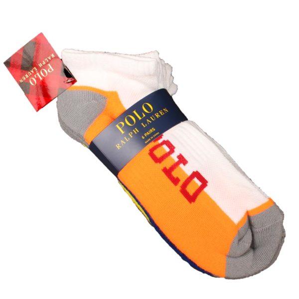 Set 6 perechi sosete sport Polo Ralph Lauren multicolore