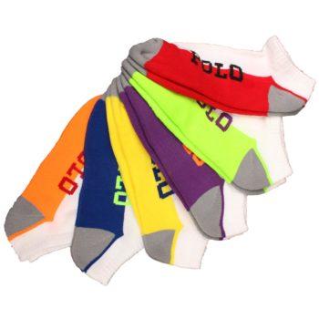 Set 6 perechi sosete sport Polo Ralph Lauren multicolore - detaliu