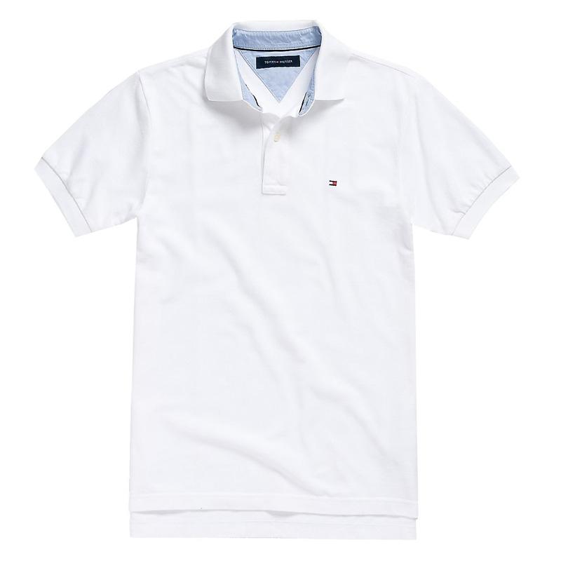 Tricou barbatesc Tommy Hilfiger clasic fit polo alb