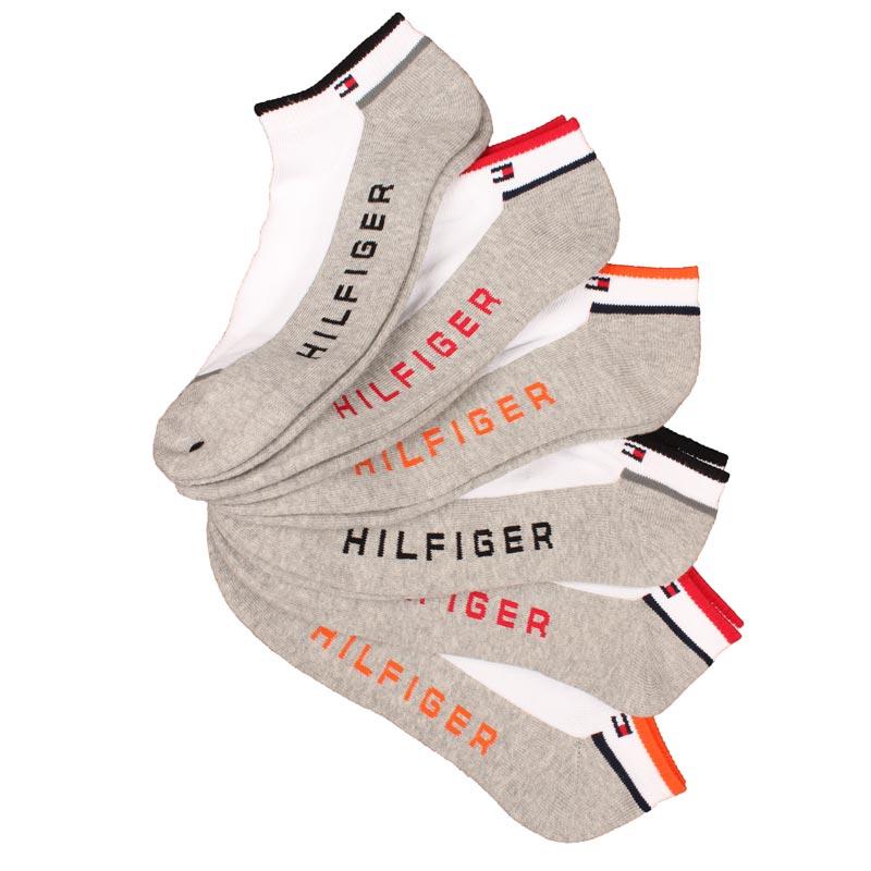 Set 6 perechi sosete sport Tommy Hilfiger multicolore - detaliu