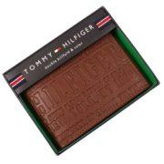 Portofel barbati Tommy Hilfiger Billfold Wallet piele naturala maro in cutie cadou