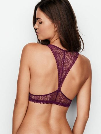 Sutien Victoria's Secret Racerback Bralette rubiniu - model - vedere spate