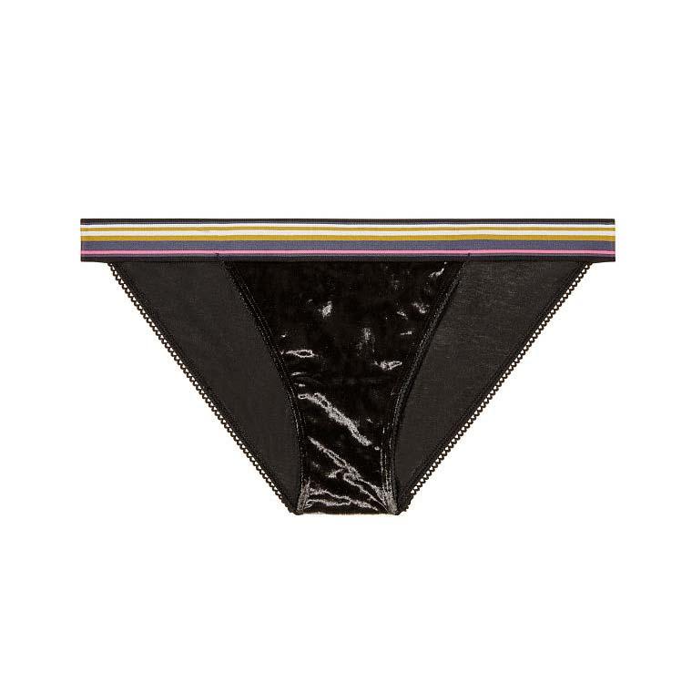 Chiloti Victoria's Secret Velvet String Bikini Panty Black