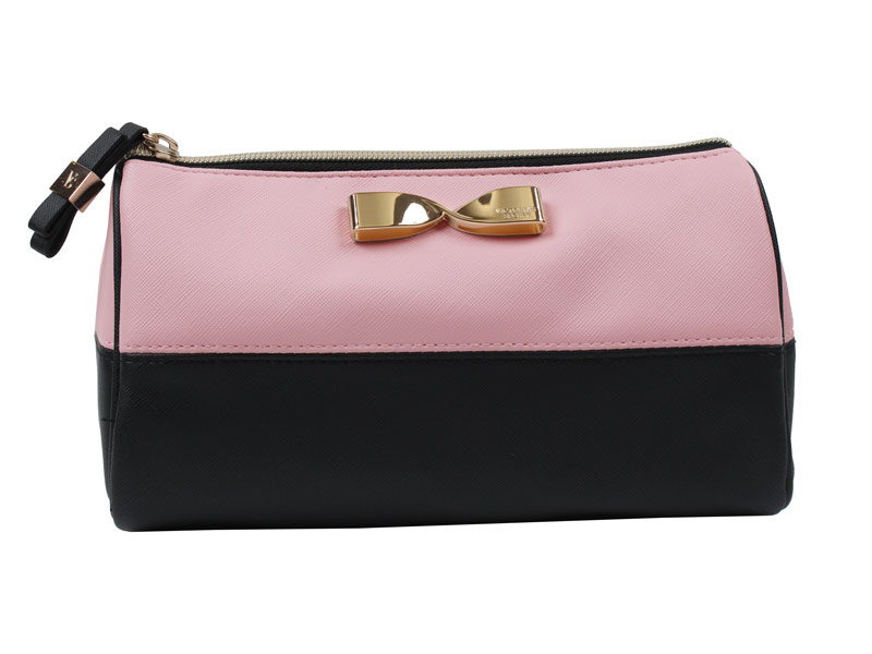 Geanta cosmetice tip portfard Victoria's Secret Large Beauty Bag roz negru