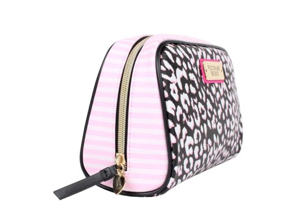 Geanta cosmetice tip portfard Victoria's Secret Large Beauty Bag print - laterala