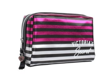 Geanta cosmetice tip portfard Victoria's Secret Large Beauty Bag in dungi - laterala 1