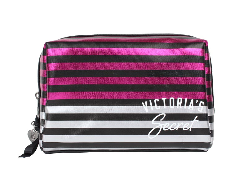 Geanta cosmetice tip portfard Victoria's Secret Large Beauty Bag in dungi