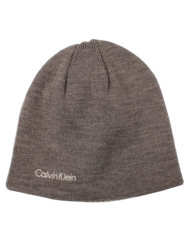 Caciula barbati Calvin Klein Diagonal Dash reversibila gri