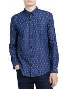 Calvin-Klein-Jeans-Men's-Long-Sleeve-Spiral-Botanical-Print-Button-Down-Shirt–model-417008P-IONIAN-408