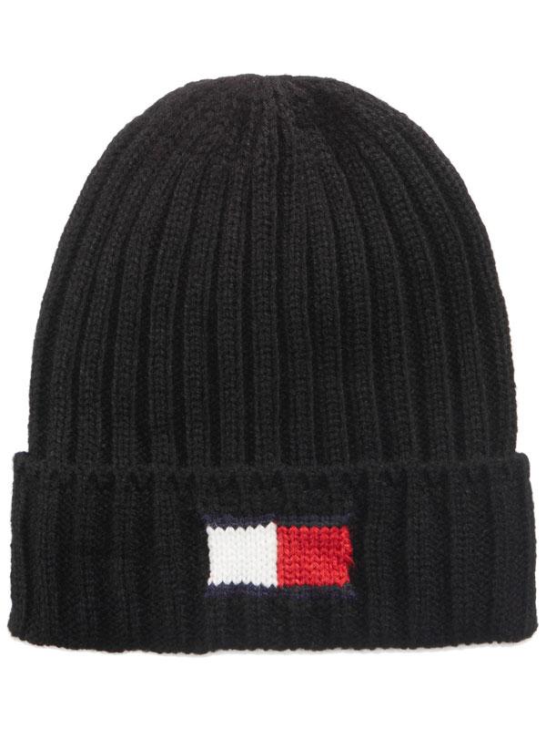 Caciula barbati Tommy Hilfiger Knit Logo Cuff Hat Black