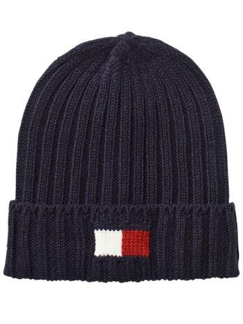 Caciula barbati Tommy Hilfiger Knit Logo Cuff Hat Navy