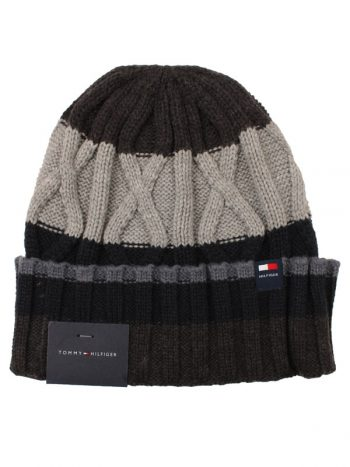 Caciula barbati Tommy Hilfiger Cable Knit Grey