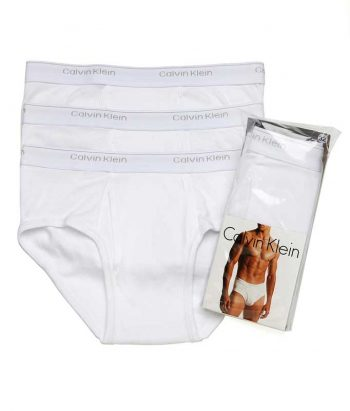Set 3 perechi chiloti barbatesti albi Calvin Klein brief