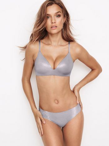 Chiloti dantela Victoria's Secret Thong-VS357203-CNF-GREY-OASIS